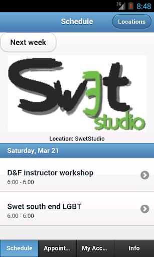 Swet Studio Mobile Scheduler
