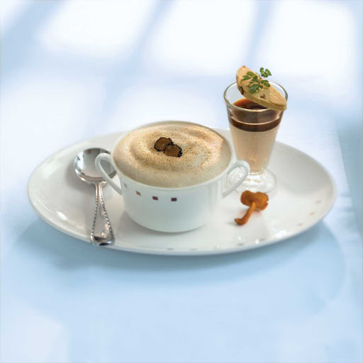 Murano Wild Forest Mushroom Cappuccino - The Wild Forest Mushroom Cappuccino available at Celebrity Cruises's Murano restaurant.