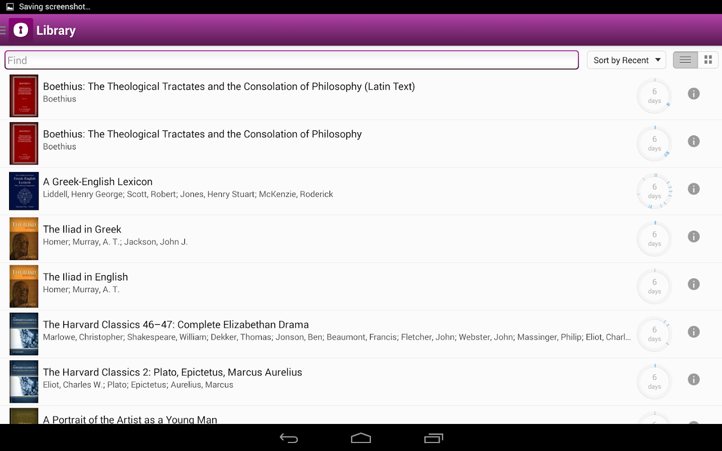 Noet Classics Research App- screenshot