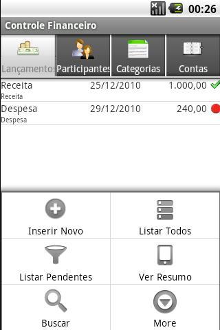 Controle Financeiro- screenshot