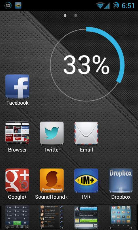 Andro Iphone ADW GO NOVA APEX - screenshot