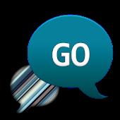 GO SMS - Blue Gray Stripes