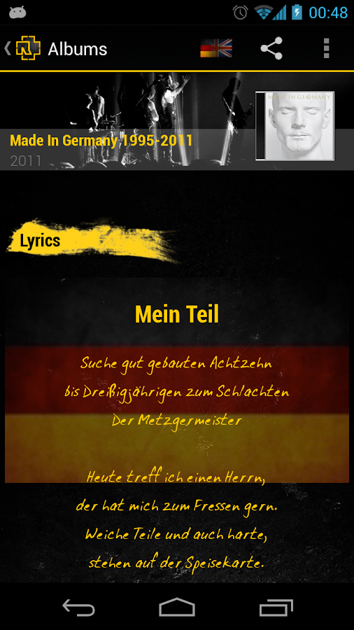 Rammstein Unofficial App - screenshot