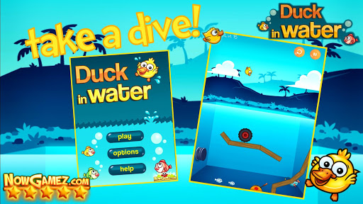 Duck in Water - Funny game