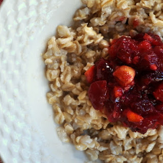 Oatmeal with Cranberry Orange Hazelnut Compote