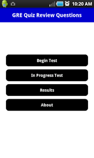 GRE Pratice Exam - screenshot thumbnail