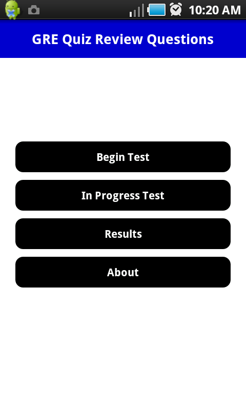 GRE Pratice Exam- screenshot