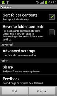 AppZorter for TouchWiz - screenshot thumbnail
