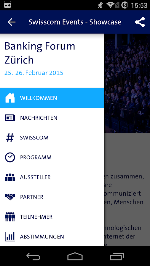 Swisscom Events - Showcase – Screenshot