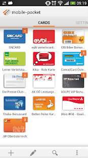 mobile-pocket loyalty cards - screenshot thumbnail
