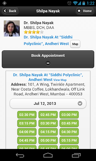 Dr Shilpa Nayak appointments