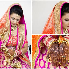 Getting Ready by Shrey Chohan - Wedding Bride ( love, wedding, happin, candid, bride and groom, bride, photography )