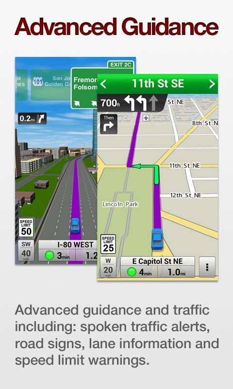 VZ Navigator for Galaxy SIII - screenshot