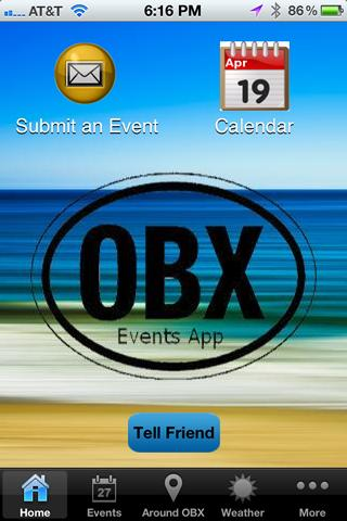 OBXEventsApp - screenshot