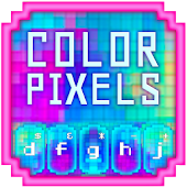 GO Keyboard Color Pixels Theme