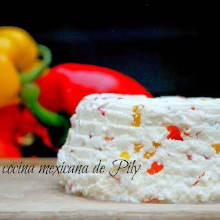 Homemade Panela Cheese.