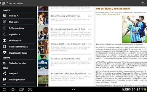 Liga Argentina de Fútbol Screenshot 12