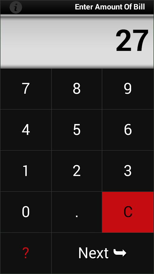 Cool Tip Calculator - screenshot