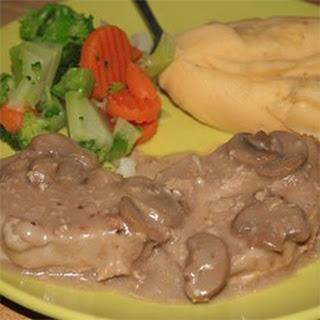 Creamy Drunken Mushroom Pork Chops