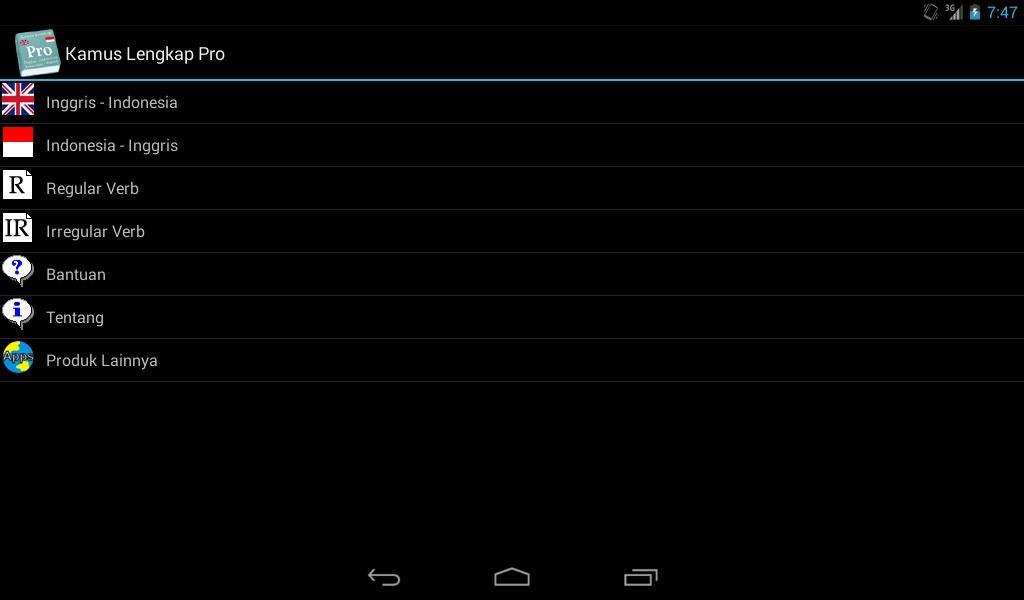 Kamus Lengkap Pro - screenshot