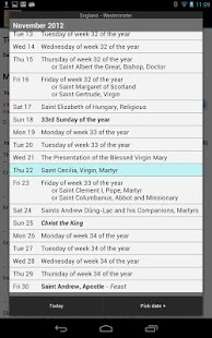 Catholic Calendar: Universalis - screenshot thumbnail