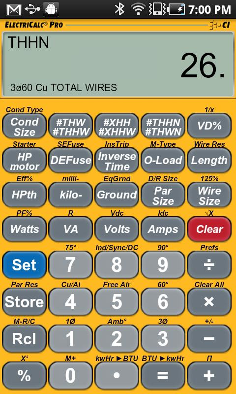 Electricalc pro calculator android apps on google play electricalc pro calculator screenshot greentooth Gallery