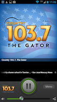 Screenshot of Country 103.7, The Gator