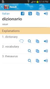 Italian English Dictionary - screenshot thumbnail
