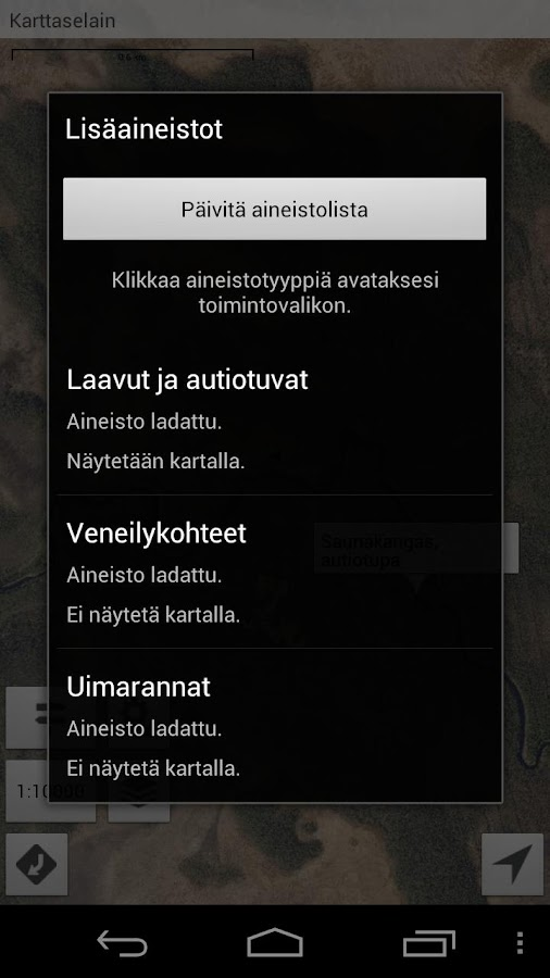 Karttaselain - screenshot