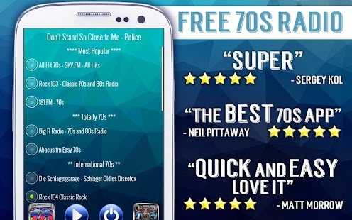 Free 70s Radio- screenshot thumbnail