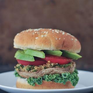 Garlic-kale Stuffed Portobello Burgers