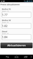 Screenshot of Billig Tanken Schweiz