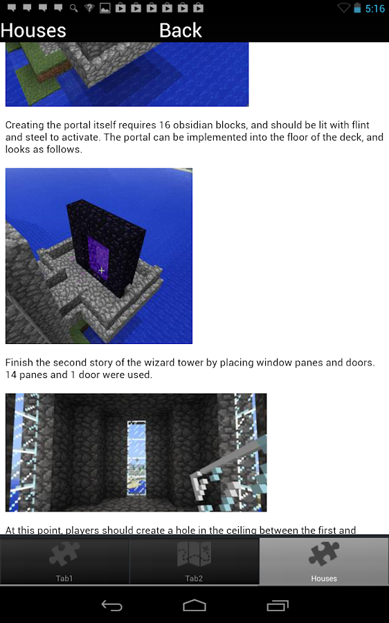 House Guide + Minecraft Cheats - screenshot
