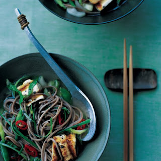 Soba and Tofu in Ginger Broth.