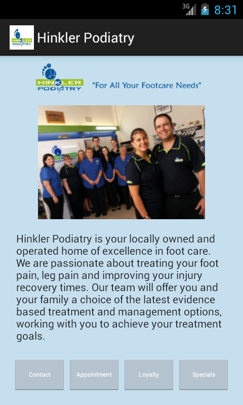 Hinkler Podiatry- screenshot