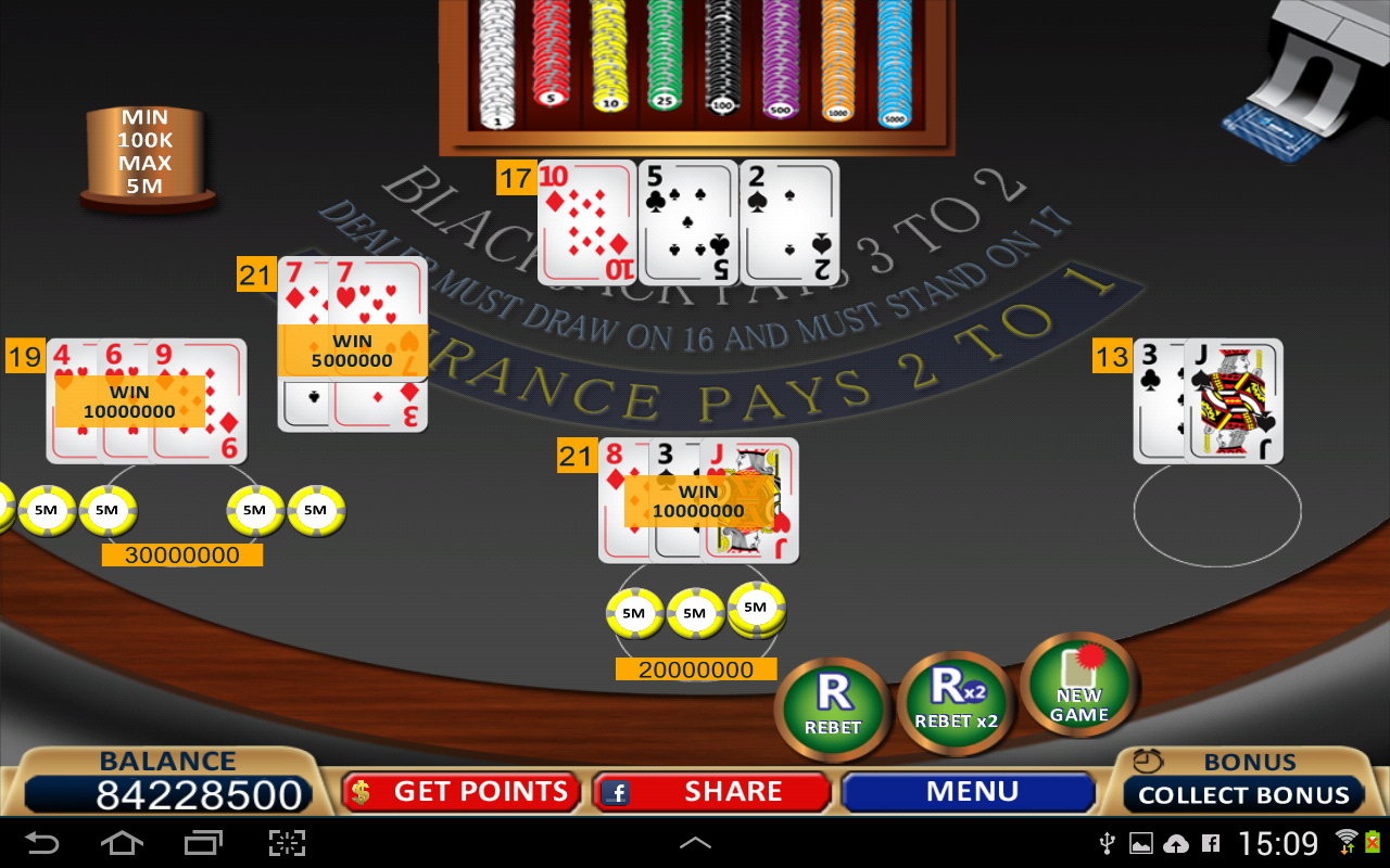 google free blackjack 21 game