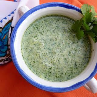 Cream of Coriander Soup.