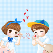 CUKI Theme Cute couple hello
