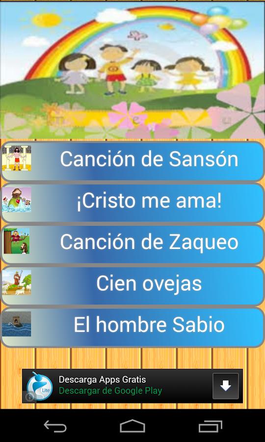 Mas musica cristiana de ni os android apps on google play - Canciones cristianas infantiles manuel bonilla ...