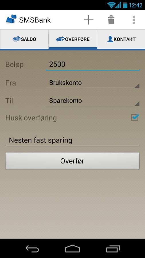Handelsbanken SMSBank - screenshot