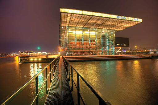 The Muziekgebouw (Concert Hall) in Amsterdam, Netherlands.