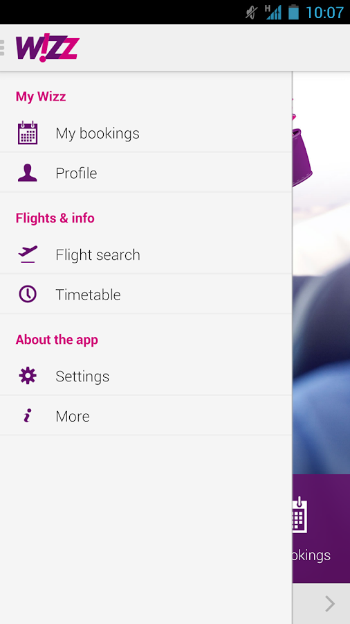 Wizz Air - screenshot
