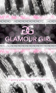 Glamour Pink Luxury Theme SMS★ - screenshot thumbnail