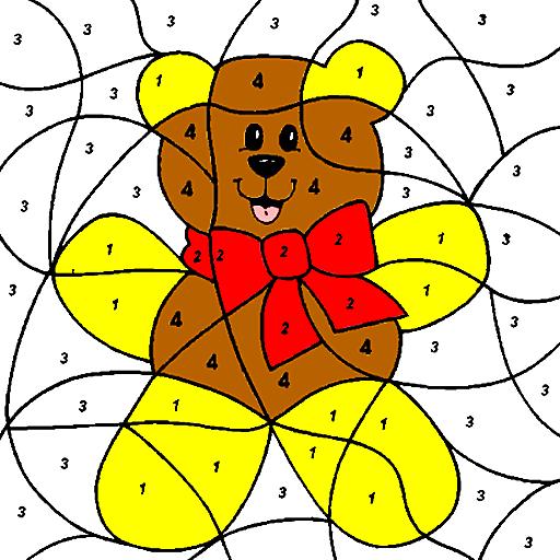 Cute Bear Coloring By Numbers LOGO-APP點子