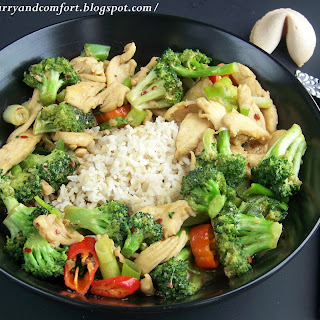 Chicken and Broccoli Stir Fry.