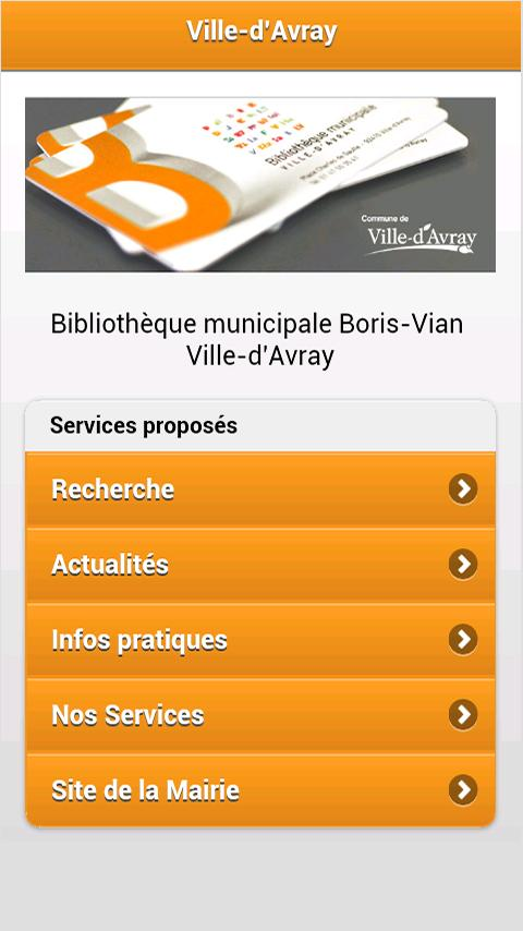 Bibliothèque Ville-d'Avray - screenshot