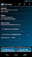 Screenshot of Cita Previa Rioja Salud