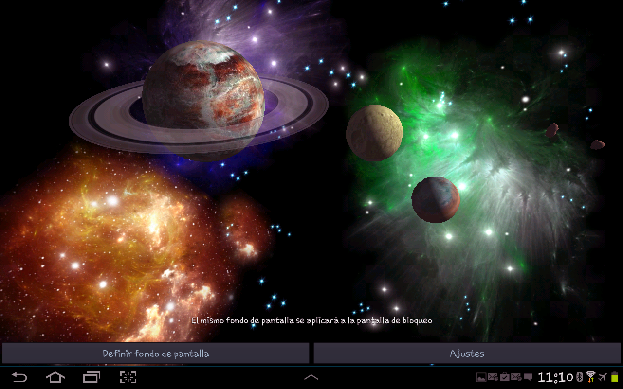 3D Space Live Wallpaper HD - screenshot