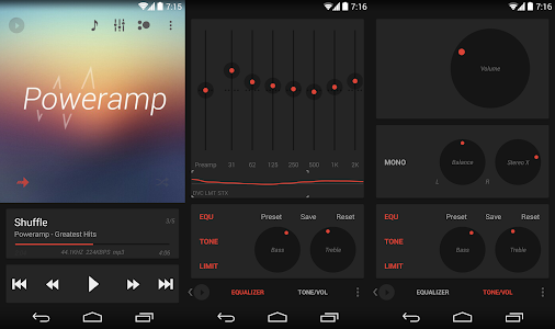 Poweramp skin 5in1 Now Dark v1.0.3