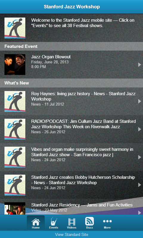 Stanford Jazz Workshop - screenshot